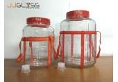 (AMORN) BREWERY JAR - โหลแก้วขนาดใหญ่ สำหรับบรรจุเครื่องดื่ม พร้อมเชือกหิ้วสีแดง