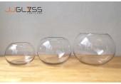 AMORN. BL - แจกันแก้ว แฮนด์เมด ทรงบอลลูน มี 3 ขนาดให้เลือก
