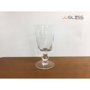 Goblet 16cm. (SQ) - แก้วไวน์ขาว แฮนด์เมด เนื้อใส ความสูง 16 ซม.