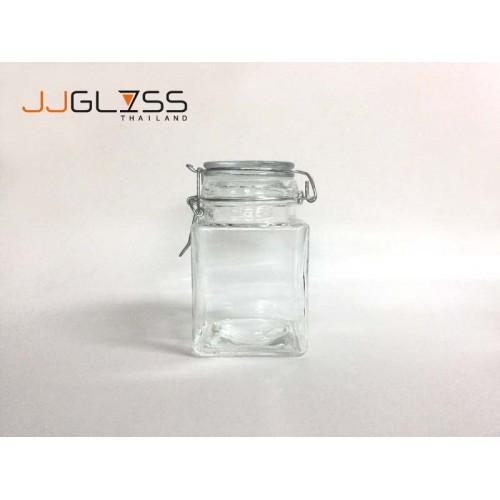 AMORN_ MINI SQUARE CLIP LOCK 350ml  - Clip Top Jar 350 ml