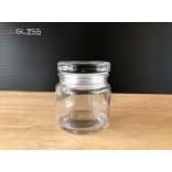 SPICES JAR 100ML. (GLASS CAP) - ขวดแก้วพร้อมฝาแก้วสูญญากาศ เนื้อใส ความจุ 100 มล.