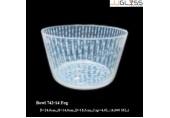 ชามโบว์ 742-14 ลายหมอก - ชามโบว์แก้วปากบาน แฮนด์เมด ลายหมอกขาว 4.0 ลิตร (4,000 มล.)