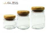 โหล 95 ฝาไม้ - ขวดโหลแก้ว แฮนด์เมด เนื้อใส ฝาไม้ มี 3 ขนาด