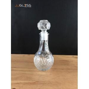 HL BOTTLE 702-125ml. - ขวดแก้วคริสตัลวินเทจ ฝาแก้วสูญญากาศ ขนาด 125 มล.