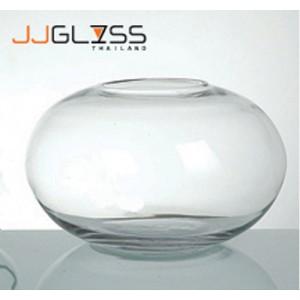 BALL 673/50 - แจกันแก้ว แฮนด์เมด ทรงกลมวงรี ความสูง 31 ซม.