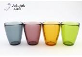 แก้ว P054/9 ลายเย็น - แก้วน้ำ แฮนด์เมด ทรงหยดน้ำ ลายเย็น ผิวแก้วไม่เรียบ 6 ออนซ์ (175 มล.)
