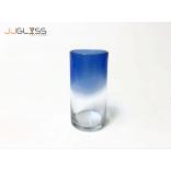 Glass 94-2 Tones Blue - Handmade Colour Glass, Capacity 20 oz. (575 ML.)