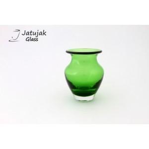 แจกัน 758/12.5 เขียวแอปเปิ้ล - แจกันแก้ว แฮนด์เมด แบบหนา รูปทรงสวยงาม สีเขียวแอปเปิ้ล