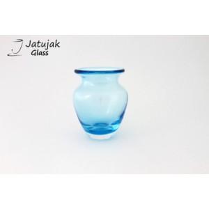 แจกัน 758/12.5 ทะเล - แจกันแก้ว แฮนด์เมด แบบหนา รูปทรงสวยงาม สีทะเล