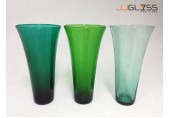 แจกัน 731 - แจกันแก้ว แฮนด์เมด สี ทรงเว้าปากบาน